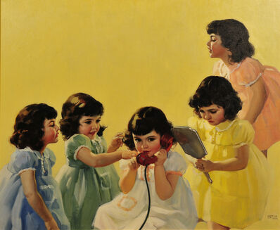 Andrew Loomis, 'Dionne Quintuplets - Calendar Illustration'