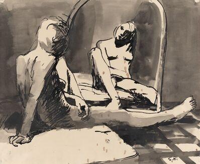 Elmer Bischoff, 'Girl Looking in Mirror', 1962