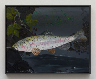 Morgan Mandalay, 'Still Life with Rainbow Trout and Black Berries (After Courbet)', 2018