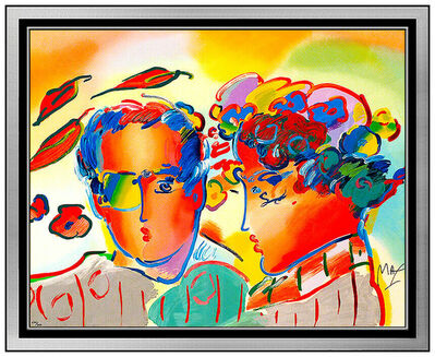 Peter Max, 'Peter Max Original Color Screenprint Large Zero In Love Hand Signed Pop Artwork', 1990