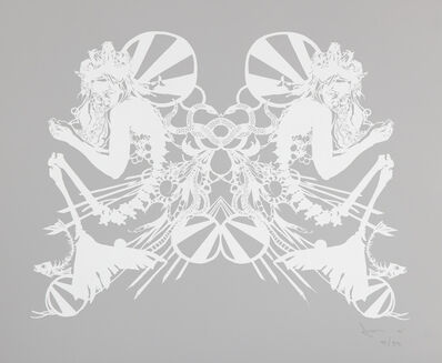 Swoon, 'Miss Rockaway (White on Mylar)', 2007