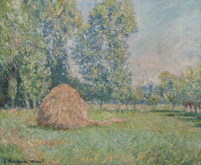 Blanche Hoschedé-Monet, 'Meule de foin, plaine des Ajoux, Giverny', 1884-1885
