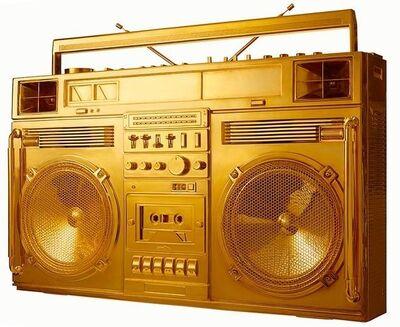 Lyle Owerko, 'Gold Boombox - Version .001'