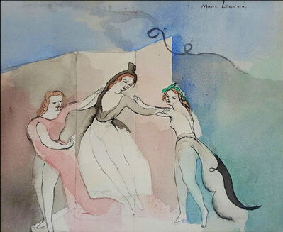 Marie Laurencin, 'Trois Jeunes Filles,  Three young girls in dance, Three Graces', ca. 1930's