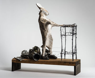Elizabeth Jordan, 'Animal walking in its sleep, sculpture: 'A Beautiful Nightmare'', 2019