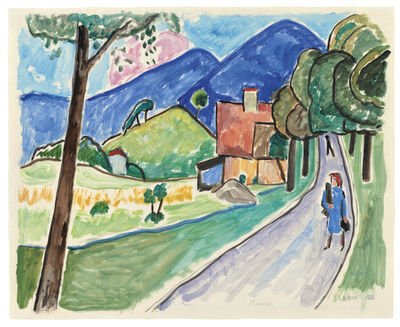 Gabriele Münter, 'Landschaft bei Murnau', ca. 1955