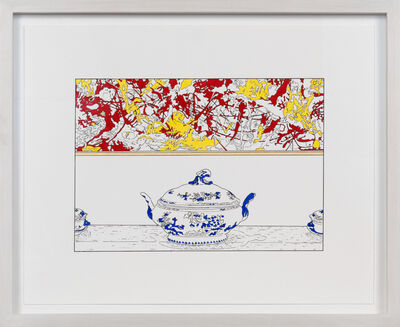 Louise Lawler, 'Pollock and Tureen (traced and painted), Seventh', 2015
