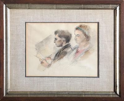 Raphael Soyer, 'Reading Couple', ca. 1930