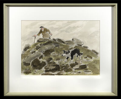 Kyffin Williams, 'Snowdonia shepherd', ca. 1980