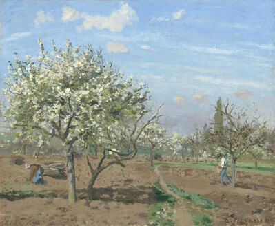 Camille Pissarro, 'Orchard in Bloom, Louveciennes', 1872