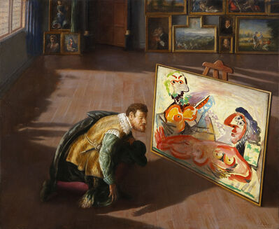 Cristobal Toral, 'Colector of the 17th Century Observing a Picasso', 2014