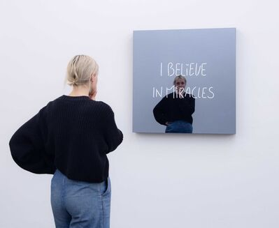 Jeppe Hein, 'I BELIEVE IN MIRACLES (handwritten)', 2018