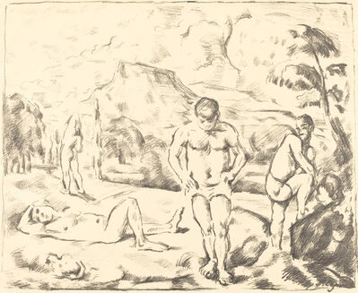 Paul Cézanne, 'The Bathers (Large Plate)'
