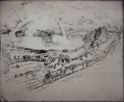 Joseph Pennell, 'Niagra Falls Station', 1910-1925