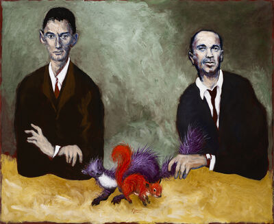 Gérard Garouste, 'The marten and the squirrel (Portraits of Kafka and Chouchani)', 2019
