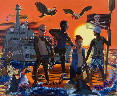 Tom Sanford, 'The Somali Pirates vs. The USS Bainbridge', 2010