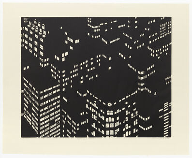 Yvonne Jacquette, 'Nightscape Woodcut', 1998