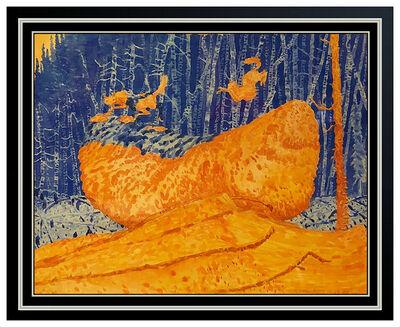 Tom Uttech, 'Tom Uttech Watercolor Painting Original Landscape Birch Trees Signed Framed Art', 1980