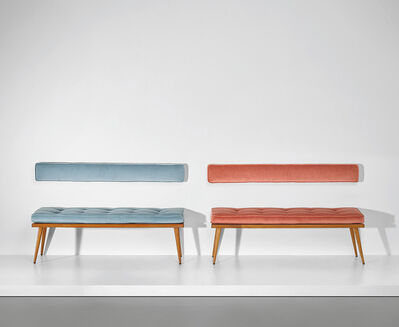 Ico Parisi, 'Pair of benches, designed for a private residence, Verona', circa 1950