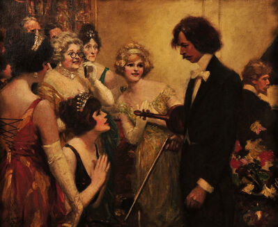 Norman M. Price, 'Violinist Admired by Women at Party'