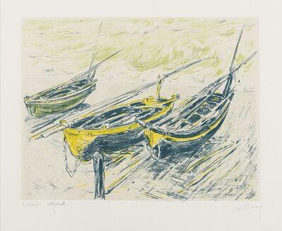 Claude Monet, 'Trois Barques sur la Grève (Lugt 225d)', circa 1892