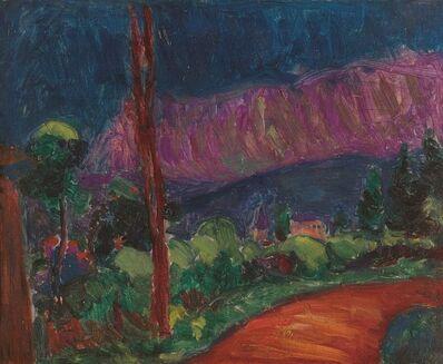 Matthew Smith, 'Cornish Landscape with Church', 1920