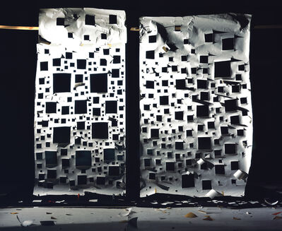 David Haxton, 'Holes in White and Holes in White Lit Side', 2008