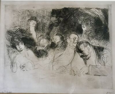 Jean-Louis Forain, 'A la table de Jeu', 1909