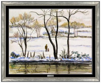 Paul Emile Pissarro, 'Winter Walk', 20th Century