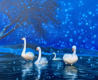 Kendra Lynn Bulgrin, 'Winter Night Swans', 2020