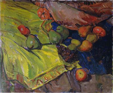 Anton Faistauer, 'Still Life with Fruit on Green Cloth', 1911