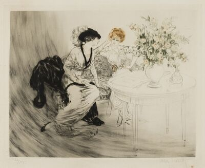 Louis Icart, 'The Conversation', 1920