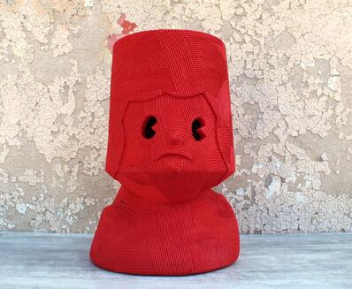 En Iwamura, 'NEO-JOMON: RED FACE', 2019