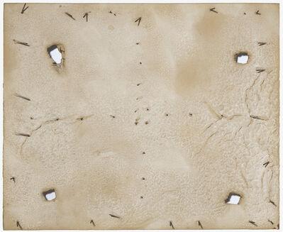 Antoni Tàpies, 'Forats i claus sobre blanc', 1968