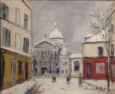 Maurice Utrillo, 'Église Saint-Pierre et Sacré-Coeur de Montmartre sous la neige', ca. 1950
