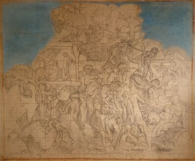 Sir Frank Brangwyn, 'Man's Ultimate Destiny, large scale study for the Rockefeller Centre', 1932