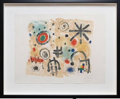Joan Miró, 'Signs and Meteors', 1958