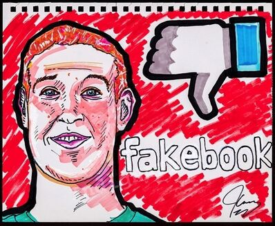 Jim Carrey, 'Fakebook', 2018