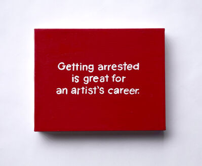 Lisa Levy, 'The Thoughts In My Head #84 (Getting arrested...)', 2020