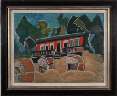 """Friedrich Karl Gotsch, ' """"Rotes Haus am Strand"""" ', ca. 1928"""