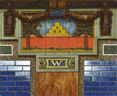 Daniel Greene, ' Wall St. – Dutch House Blue', 2015