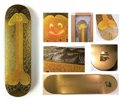 "Chris Ofili, '""Untitled"" Skate Deck, 2014, New Museum NYC- Signed/Numbered/Dated Edition of 100.', 2014"
