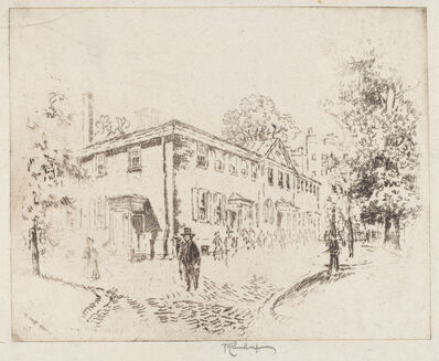 Joseph Pennell, 'Fourth Street, Meeting House, Philadelphia', 1920