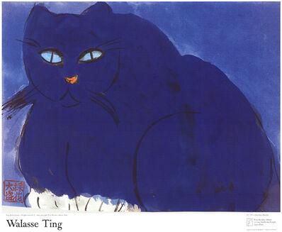 Walasse Ting 丁雄泉, 'Blue Cat', 1987