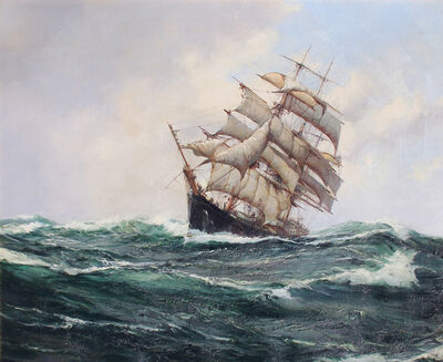 "Montague Dawson, 'The ""Carrie Reed"" under Full Sail'"