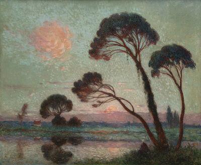 Ferdinand du Puigaudeau, 'Soleil couchant sur la Brière'