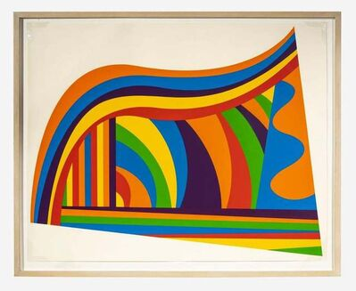 Sol LeWitt, 'Arcs and Bands in Color', 1999