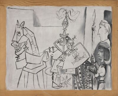 Pablo Picasso, 'Chevalier, Page et Moine (Horseman, Page, and Monk)', 1951