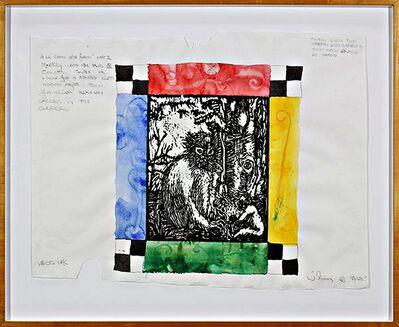 William T. Wiley, 'Monkey Image from Horapolo Hiero (with Marsha Mateyka Gallery (Washington, DC) label) ', 1994