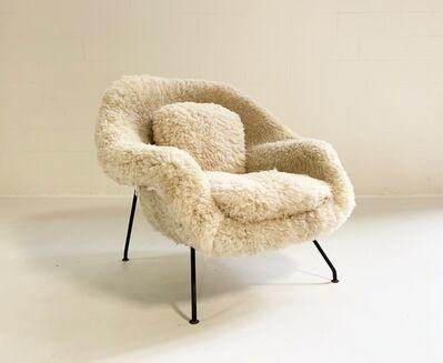 Eero Saarinen, 'Early Womb Chair Restored in California Sheepskin', mid 20th century